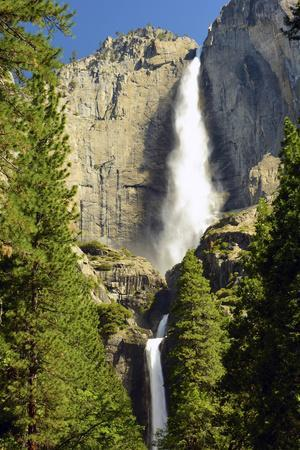 Upper and Lower Yosemite Falls, Merced River, Yosemite NP, California