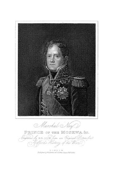 Michel Ney, French Soldier of the Napoleonic Wars, 1817--Giclee Print