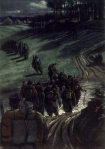 Off to the Trenches, 1915 by Michel