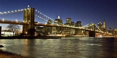 Panoramic view of Lower Manhattan at dusk, NYC