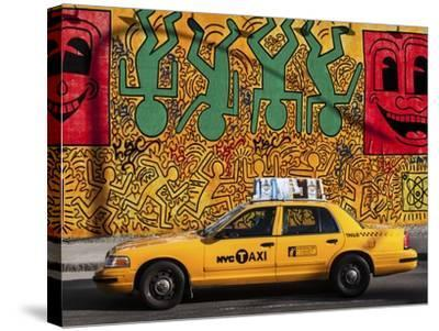 Taxi and mural painting, NYC