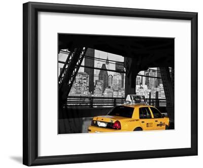 Taxi on the Queensboro Bridge, NYC