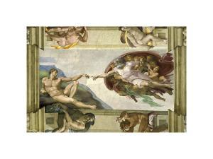 The Creation of Adam (Full) by Michelangelo Buonarotti