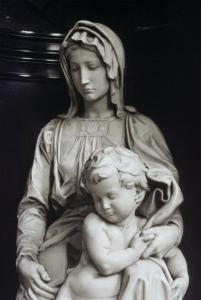 Bruges Madonna, Detail by Michelangelo Buonarroti