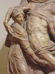 Detail of the Florence Pieta, C.1550 by Michelangelo Buonarroti