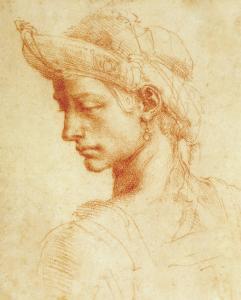 Drawing of a Woman by Michelangelo Buonarroti