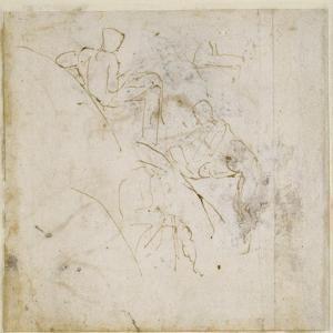 Figure Study, C.1511 by Michelangelo Buonarroti