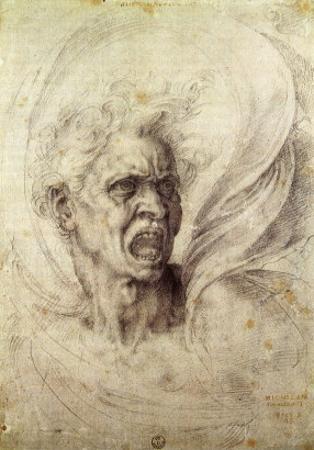Fury, 1510 by Michelangelo Buonarroti