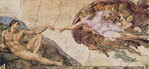 La Crezione di Adamo The Creation of Adam by Michelangelo Buonarroti