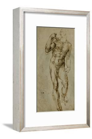 Nude Male Figure Seen Frontally, circa 1502-1506