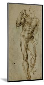 Nude Male Figure Seen Frontally, circa 1502-1506 by Michelangelo Buonarroti