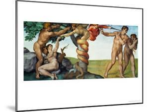 Original Sin, Ceiling Frescoes after Restoration by Michelangelo Buonarroti