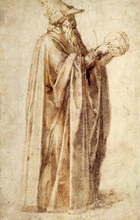 Philosopher Holds Skull, 1502 by Michelangelo Buonarroti