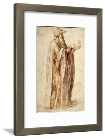 Philosopher Holds Skull, 1502