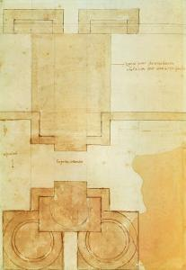 Plan of the Drum of the Cupola of the Church of St. Peter's Basilica by Michelangelo Buonarroti