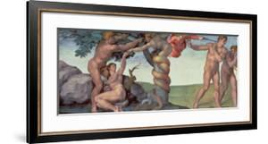 Sistine Chapel Ceiling (1508-12): the Fall of Man, 1510 (Post Restoration) by Michelangelo Buonarroti