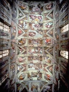 Sistine Chapel Ceiling, 1508-12 by Michelangelo Buonarroti