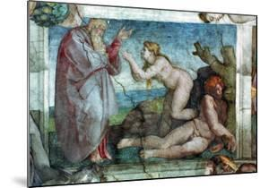 Sistine Chapel Ceiling: Creation of Eve, with Four Ignudi, 1511 by Michelangelo Buonarroti