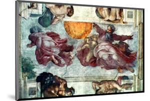 Sistine Chapel Ceiling: Creation of the Sun and Moon, 1508-12 by Michelangelo Buonarroti