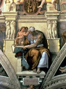 Sistine Chapel Ceiling: Cumaean Sibyl, 1510 by Michelangelo Buonarroti