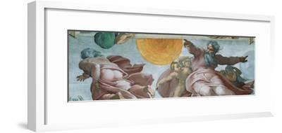 Sistine Chapel Ceiling, God Creating Sun and Moon