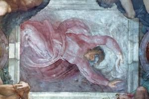 Sistine Chapel Ceiling, God Dividing Light from Darkness by Michelangelo Buonarroti