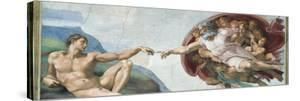 Sistine Chapel Ceiling, God to uches Adam with His Finger by Michelangelo Buonarroti