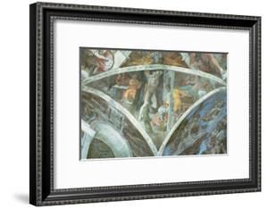 Sistine Chapel Ceiling: Haman (Spandrel) (Pre Restoration) by Michelangelo Buonarroti