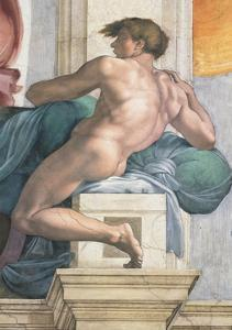 Sistine Chapel Ceiling, Male Nude by Michelangelo Buonarroti