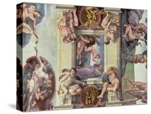 Sistine Chapel Ceiling : the Creation of Eve, 1510 by Michelangelo Buonarroti