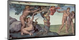 Sistine Chapel Ceiling : the Fall of Man, 1510 by Michelangelo Buonarroti
