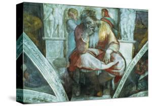 Sistine Chapel Ceiling: the Prophet Jeremiah (Pre Resoration) by Michelangelo Buonarroti