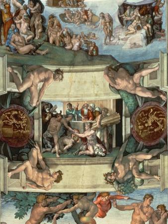 Sistine Chapel Ceiling : the Sacrifice of Noah, 1508-10