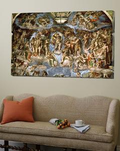 Sistine Chapel: the Last Judgement, 1538-41 by Michelangelo Buonarroti