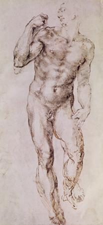 Sketch of David with His Sling, 1503-4 by Michelangelo Buonarroti