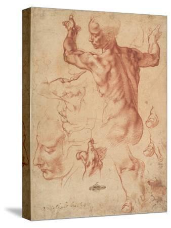 Studies for the Libyan Sibyl (recto), c.1510-11