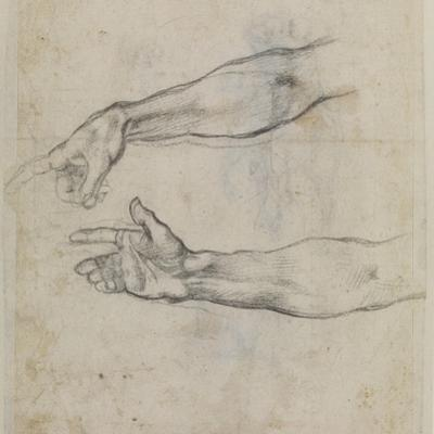 Studies of an Outstretched Arm for the Fresco the Drunkenness of Noah, C.1508