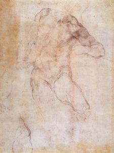Study of a Male Nude by Michelangelo Buonarroti