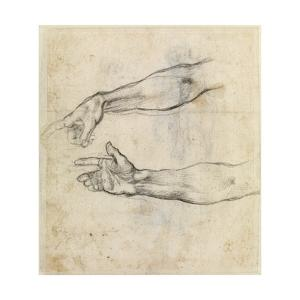 Study of Two Arms for 'The Drunkenness of Noah' in the Sistine Chapel by Michelangelo Buonarroti