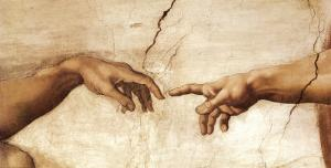 The Creation of Adam, c.1510 (detail) by Michelangelo Buonarroti