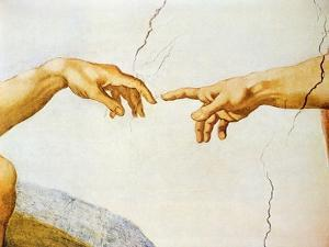 The Creation of Adam, from the Sistine Ceiling, 1510 (Detail) by Michelangelo Buonarroti