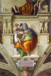 The Delphic Sibyl (Sistine Chapel Ceiling in the Vatica), 1508-1512 by Michelangelo Buonarroti