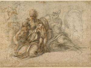 The Holy Family (recto); Amorous Putti (verso) c. 1530 by Michelangelo Buonarroti