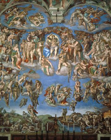 The Last Judgement, 1534-41 by Michelangelo Buonarroti