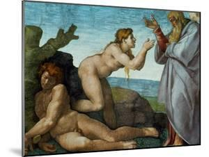 The Sistine Chapel; Ceiling Frescos after Restoration, the Creation of Eve by Michelangelo Buonarroti