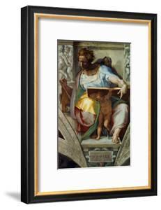 The Sistine Chapel; Ceiling Frescos after Restoration, the Prophet Daniel by Michelangelo Buonarroti