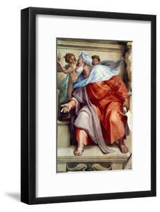 The Sistine Chapel; Ceiling Frescos after Restoration, the Prophet Ezekiel by Michelangelo Buonarroti