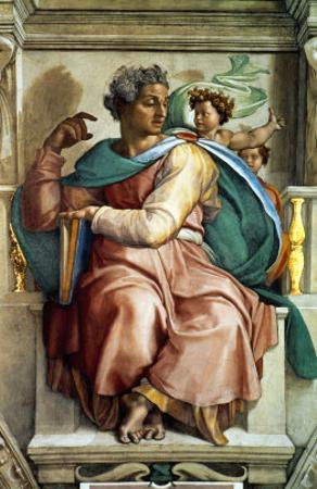 The Sistine Chapel; Ceiling Frescos after Restoration, the Prophet Isaiah