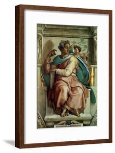 The Sistine Chapel; Ceiling Frescos after Restoration, the Prophet Isaiah by Michelangelo Buonarroti