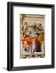 The Sistine Chapel; Ceiling Frescos after Restoration, the Prophet Joel by Michelangelo Buonarroti